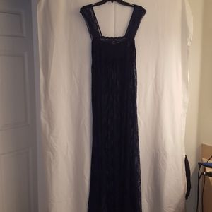 Free People Intimately Lace Navy Dress